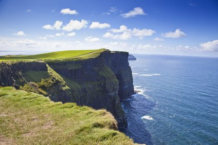 Cliffs Of Moher in County Clare on a Sunny Day